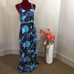 Ann Taylor LOFT Floral Maxi Dress 8